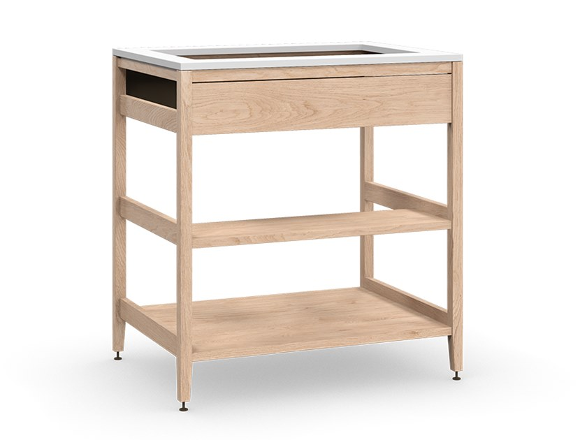 Solid wood kitchen unit ALL WOOD RADIX | Wooden sink cabinet by Coquo