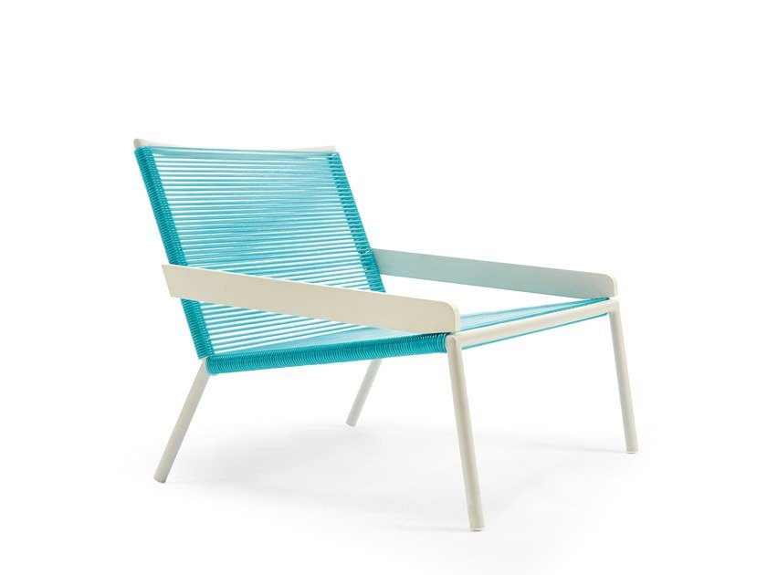 Synthetic fibre garden armchair with armrests ALLAPERTO CAMPING CHIC | Garden armchair by Ethimo