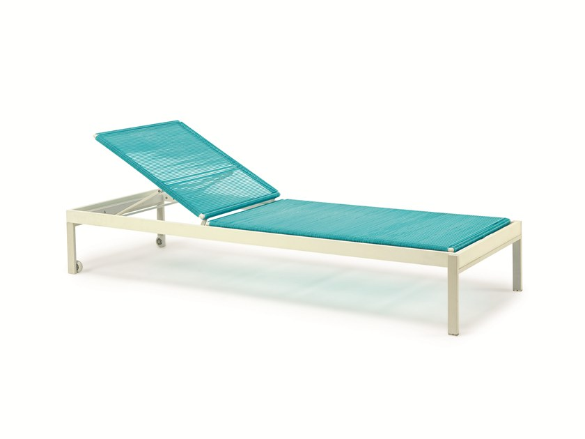 Recliner PVC garden daybed ALLAPERTO CAMPING CHIC | Garden daybed by Ethimo