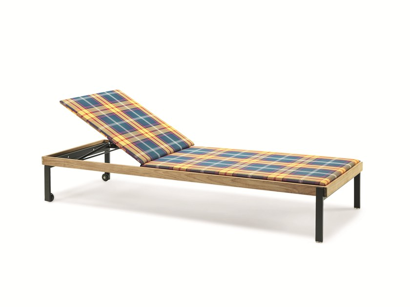 Recliner technical fabric garden daybed ALLAPERTO MOUNTAIN TARTAN | Garden daybed by Ethimo