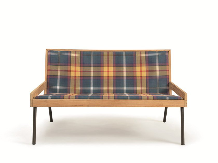 2 seater technical fabric garden sofa ALLAPERTO MOUNTAIN TARTAN | Garden sofa by Ethimo