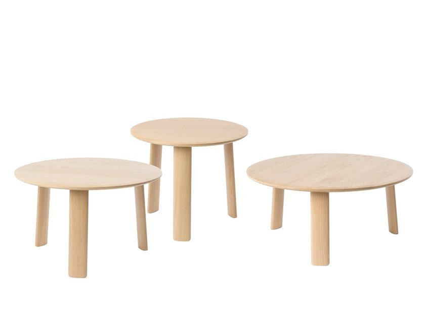 Round wooden coffee table ALLE | Coffee table by Hem