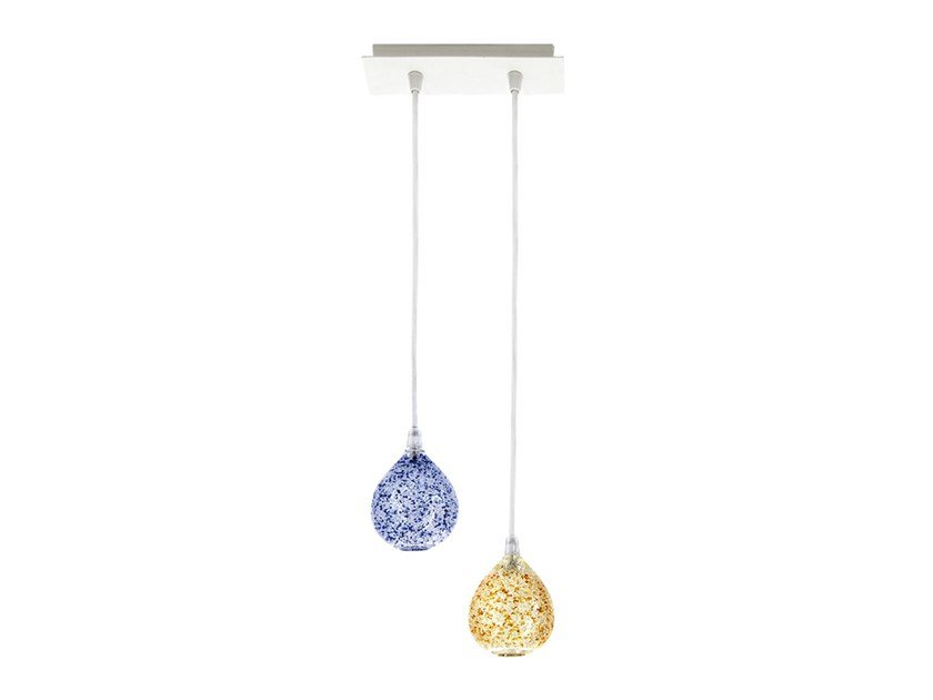 LED blown glass pendant lamp ALLEGRA by ENGI