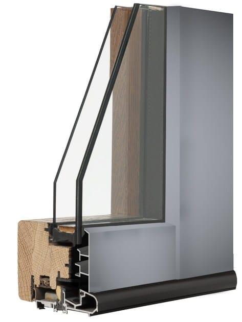 Wooden flush-with-wall window ALLEGRI LUCE by Italserramenti