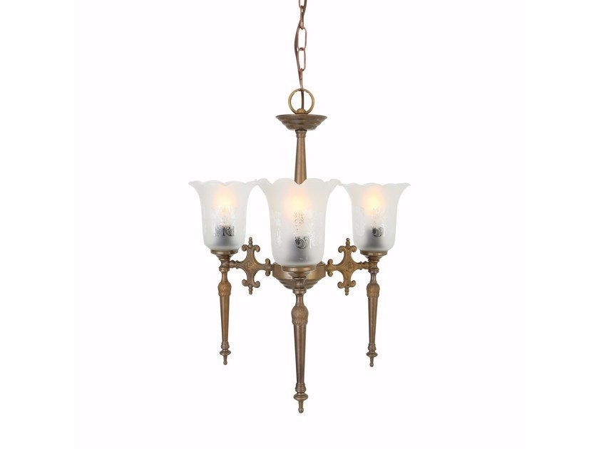 Brass chandelier ALLEN | Chandelier by Mullan Lighting