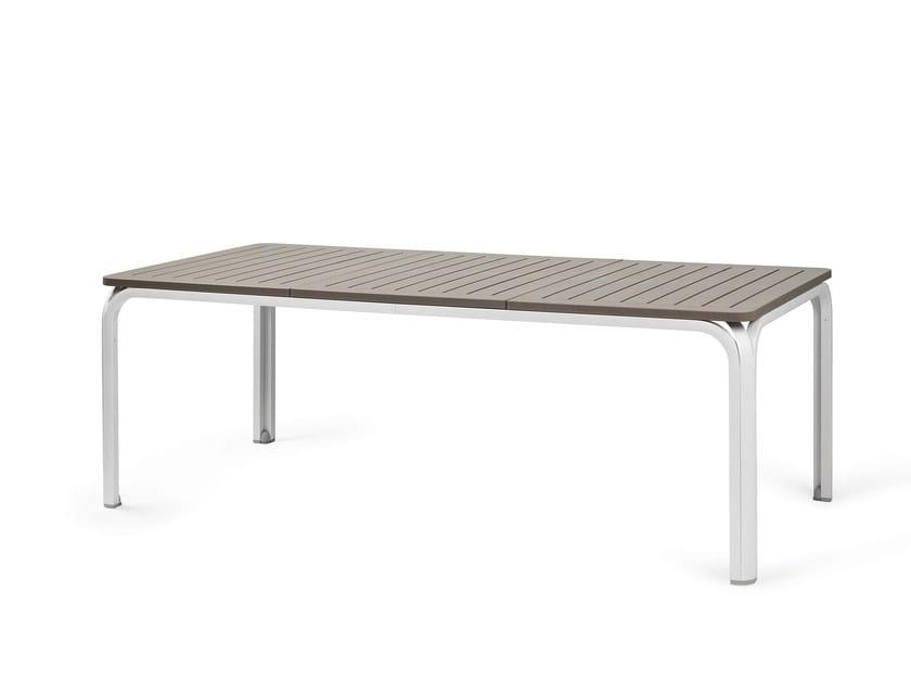 Table extensible de jardin rectangulaire en DurelTOP ALLORO