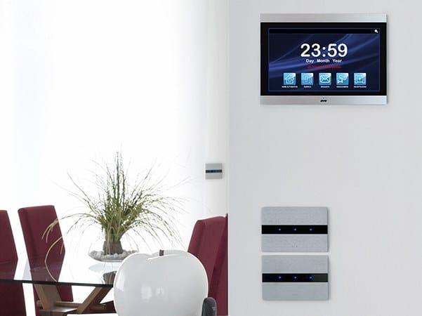 Serie civile touch in alluminio con LED ALLUMIA 44 by AVE