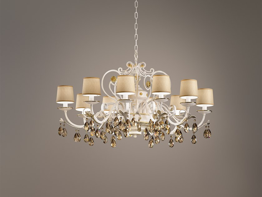 Direct light metal chandelier with Swarovski® Crystals ALLURE 10 by Masiero