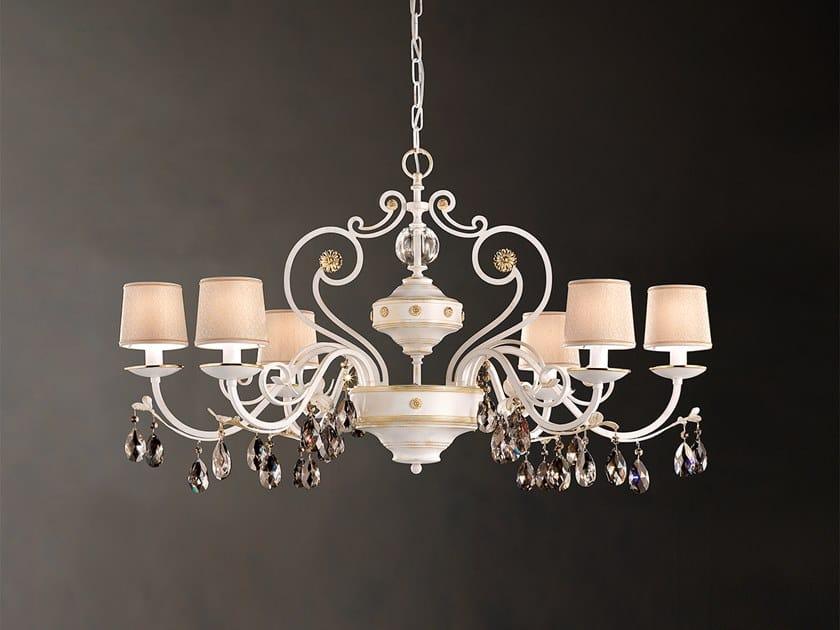 Direct light metal chandelier with Swarovski® Crystals ALLURE 6 BIL by Masiero