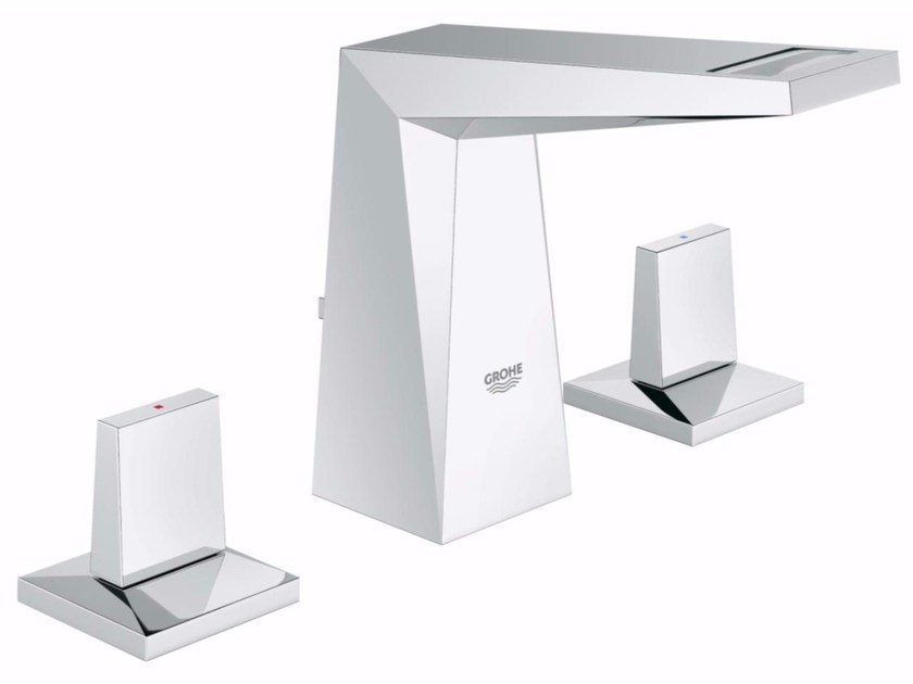 Countertop washbasin tap with pop up waste ALLURE BRILLIANT SIZE S | 3 hole washbasin tap by Grohe