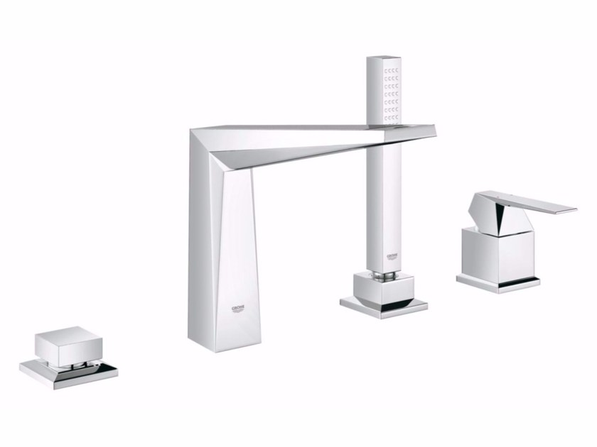 Single handle bathtub set with hand shower ALLURE BRILLIANT | 4 hole bathtub set by Grohe