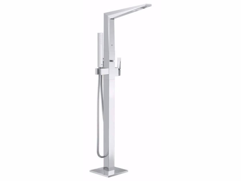 Bathtub mixer with diverter with hand shower ALLURE BRILLIANT | Floor standing bathtub mixer by Grohe