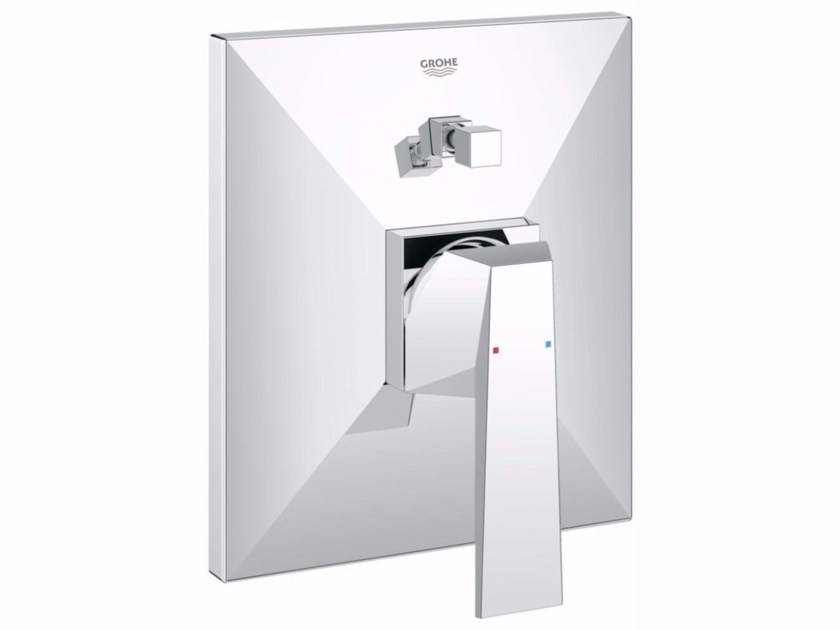Single handle bathtub mixer with diverter ALLURE BRILLIANT | Wall-mounted bathtub mixer by Grohe