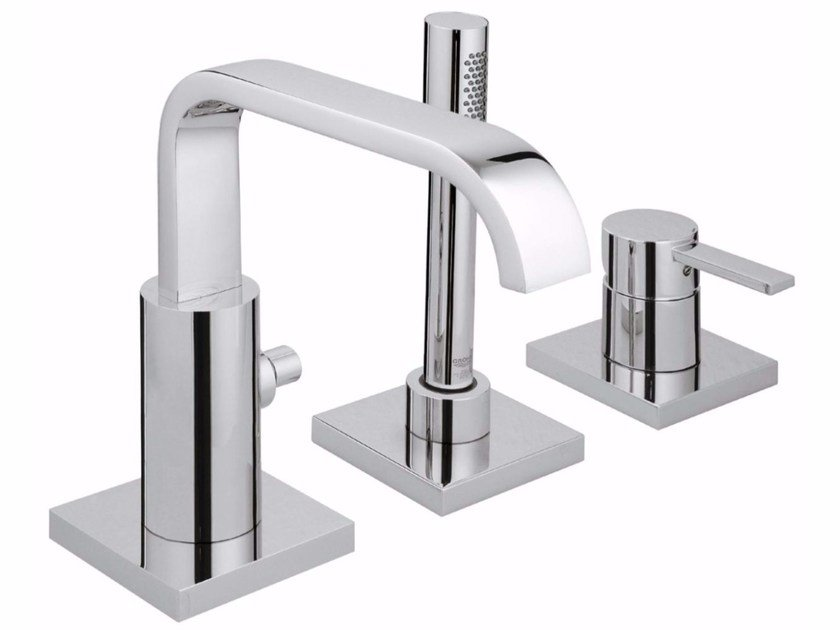 3 hole single handle bathtub set with hand shower ALLURE | Bathtub set by Grohe
