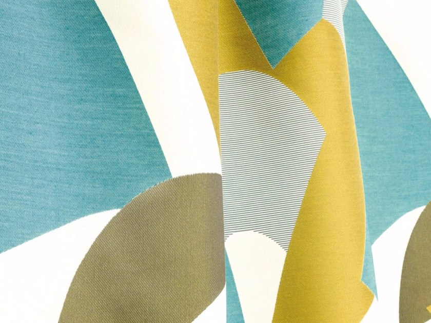 Washable Trevira® CS fabric with graphic pattern ALLURE by LELIEVRE