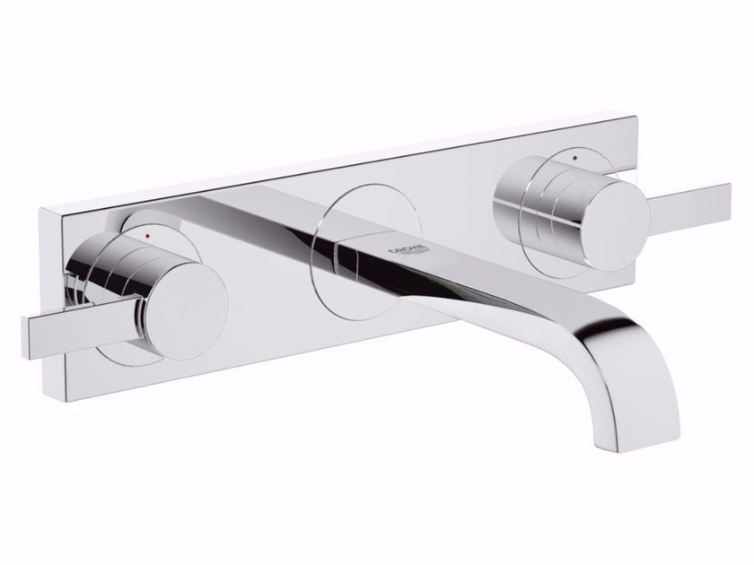 Wall-mounted washbasin tap ALLURE SIZE S | 3 hole washbasin tap by Grohe