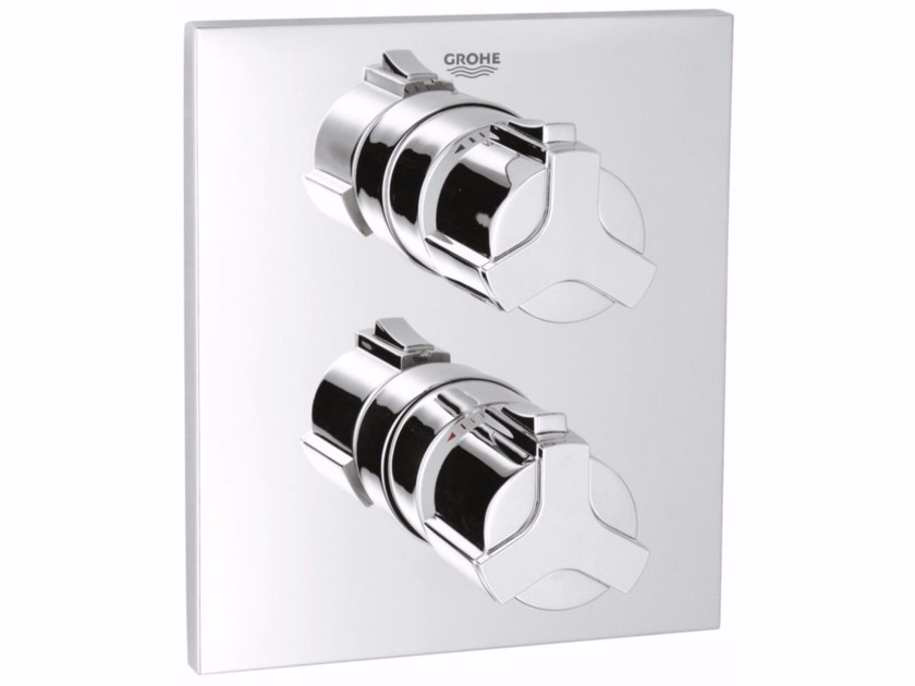 2 hole thermostatic shower mixer ALLURE | Thermostatic shower mixer by Grohe