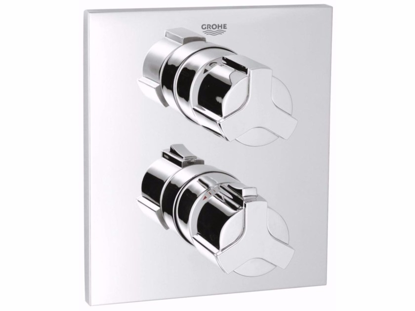 2 hole thermostatic shower mixer ALLURE | Thermostatic shower mixer with diverter by Grohe
