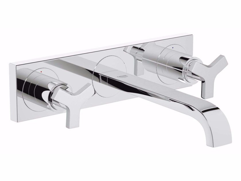 3 hole washbasin tap ALLURE SIZE M | Wall-mounted washbasin tap by Grohe