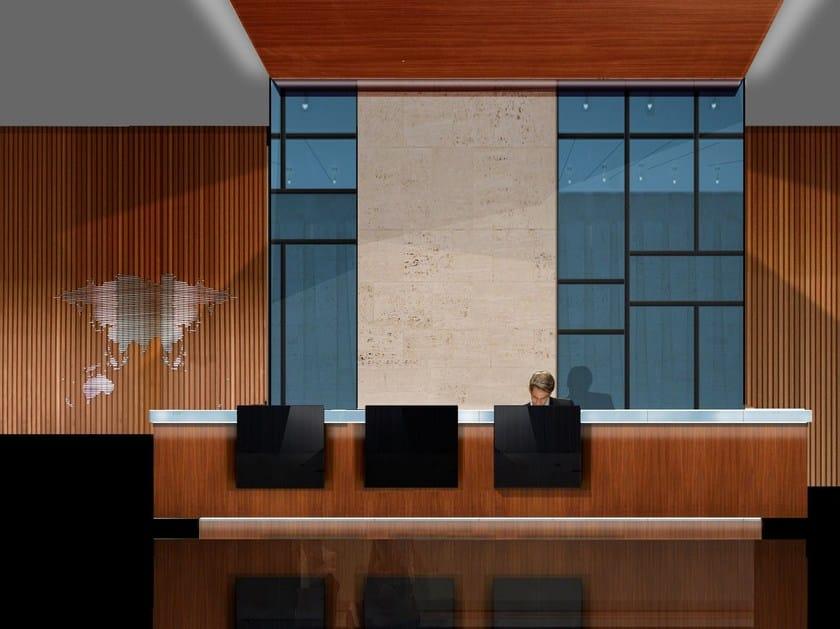 Wooden Office reception desk ALLWOOD by Jose Martinez Medina