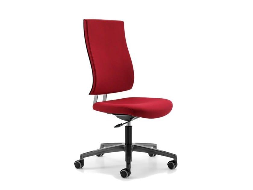 Sedia ufficio operativa ad altezza regolabile in tessuto a 5 razze con ruote ALLY 1700 by TALIN