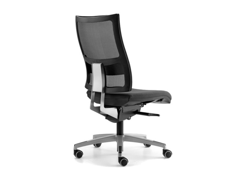Mesh task chair with 5-Spoke base with casters ALLYNET 1747 by TALIN