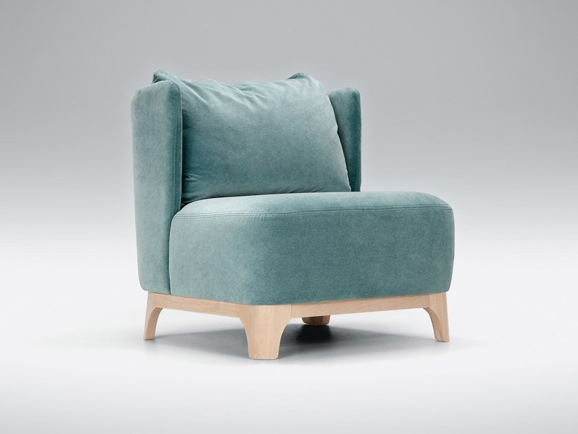 Upholstered fabric armchair ALMA | Armchair by Sits