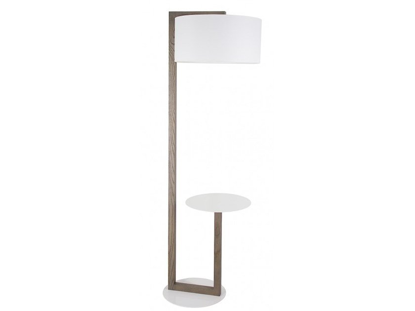 Wooden Floor Lamp With Shelf Alma By Flam Luce Design
