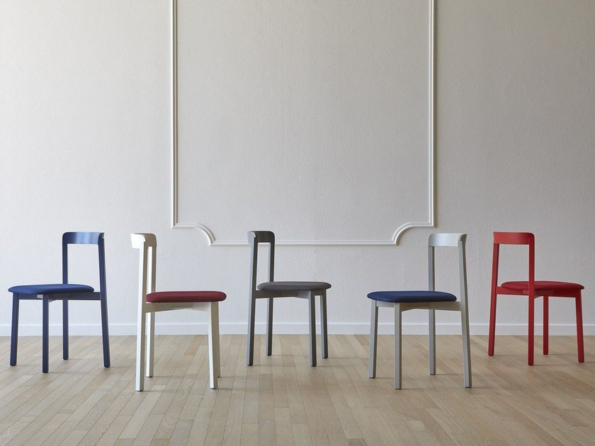 Wooden chair ALMA by Miniforms