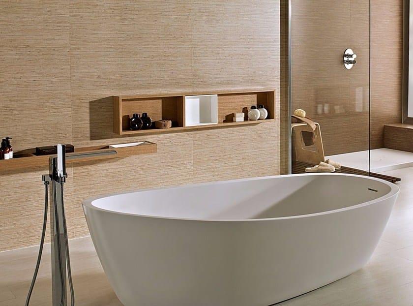 Vasca Da Bagno Krion : Vasca da bagno centro stanza in krion almond vasca da bagno