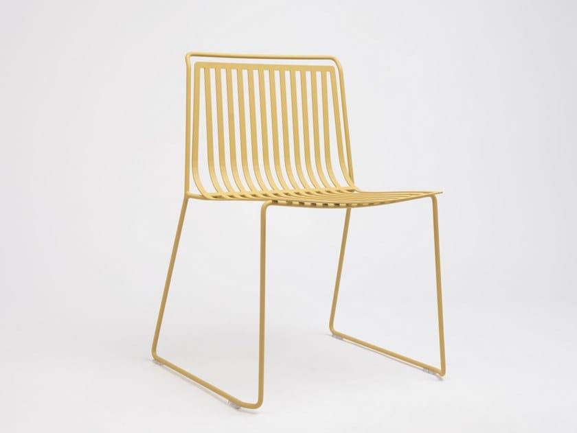 Sled base stackable steel garden chair ALO OUTDOOR by ONDARRETA