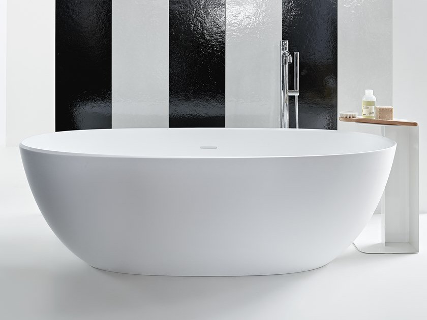 Vasche Da Bagno Zucchetti : Vasca da bagno centro stanza in solid surface aloe by kos by zucchetti