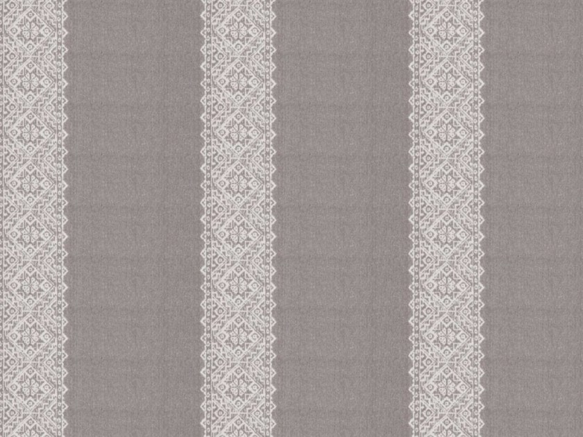 Striped linen fabric for curtains ALPES by Gancedo