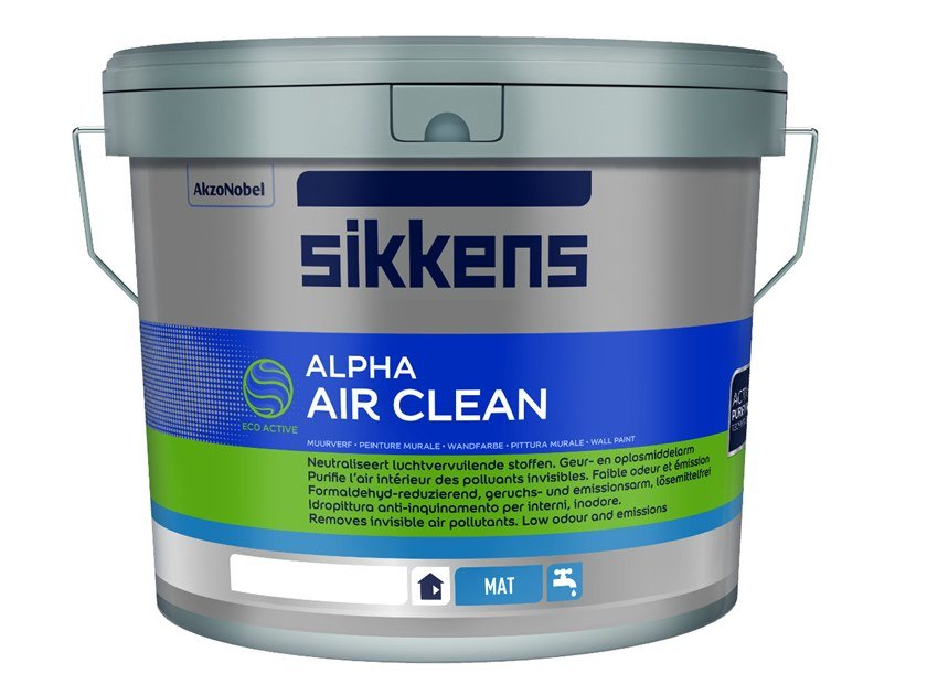 Washable water-based paint ALPHA AIR CLEAN MAT by Sikkens