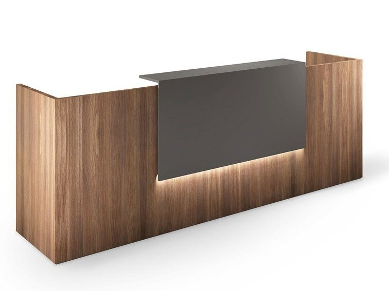 Reception desk with Built-In Lights ALPHA By FIT INTERIORS