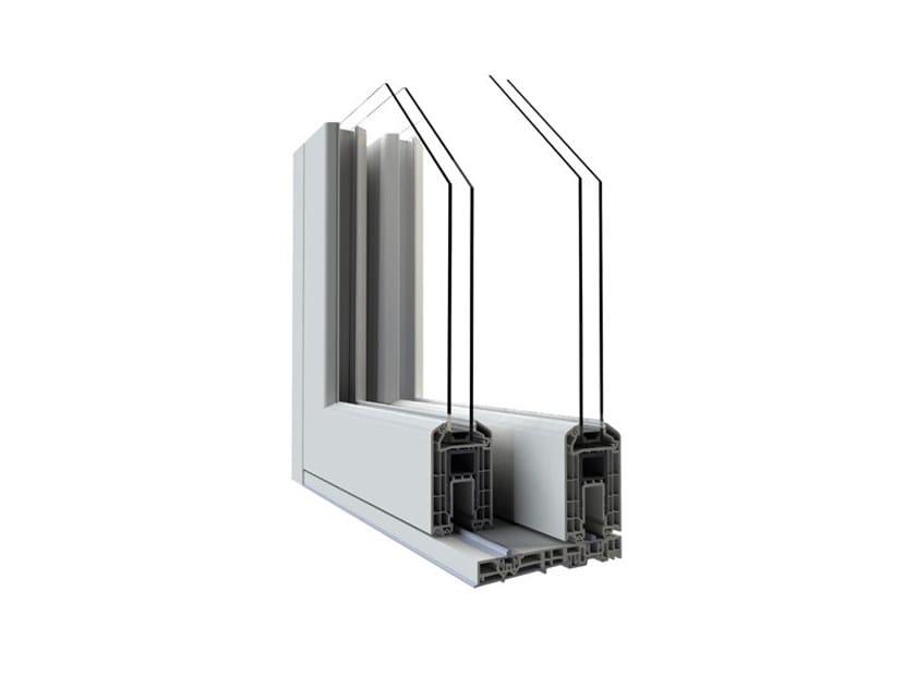 Aluminium and PVC sliding window ALPHA HST VISION by Punto Gold