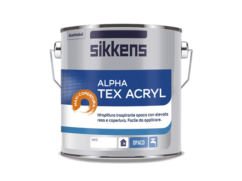 Breathable water-based paint ALPHA TEX ACRYL by Sikkens
