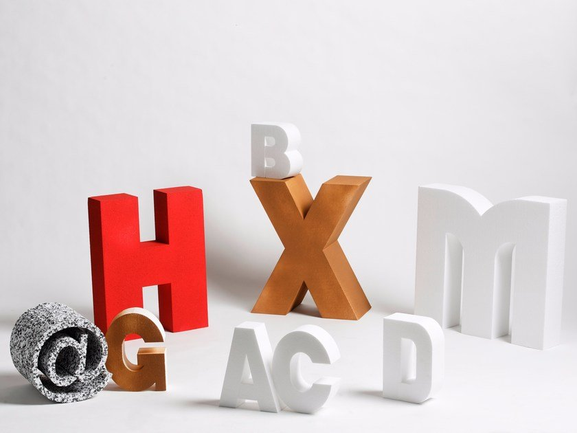 Poly Mass® decorative object ALPHABET | Decorative object by Be Different