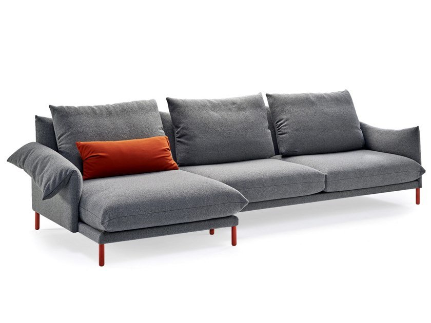 Fabric sofa with chaise longue ALPINO | Sofa with chaise longue by Sancal
