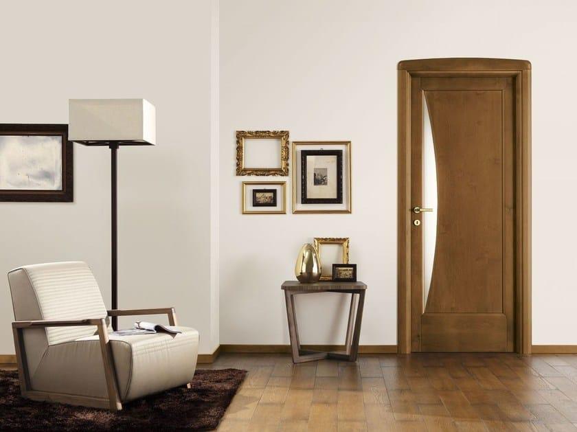 Wood and glass door ALTA EBANISTERIA by LEGNOFORM