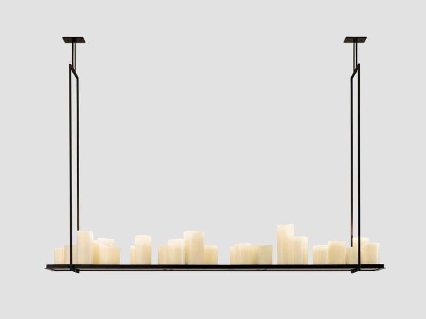 Indirect light steel pendant lamp ALTAR by Kevin Reilly Collection