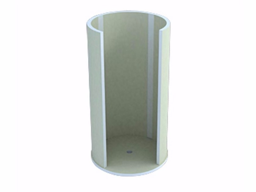 Circular shower cabin with tray ALTEA by Butech