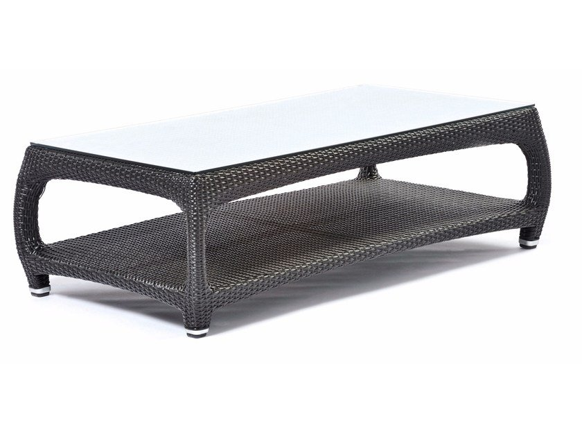 Rectangular Coffee Table With Glass Top Altea By Varaschin