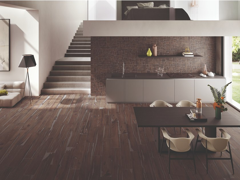 Porcelain stoneware wall/floor tiles with wood effect ALTER BRUCIATO by Provenza by Emilgroup