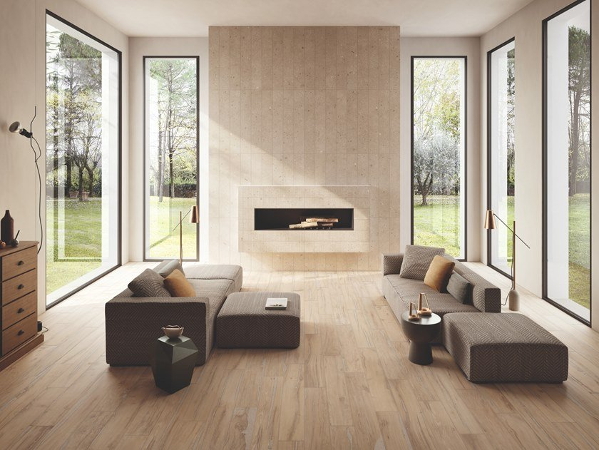 Porcelain stoneware wall/floor tiles with wood effect ALTER MIELE by Provenza by Emilgroup