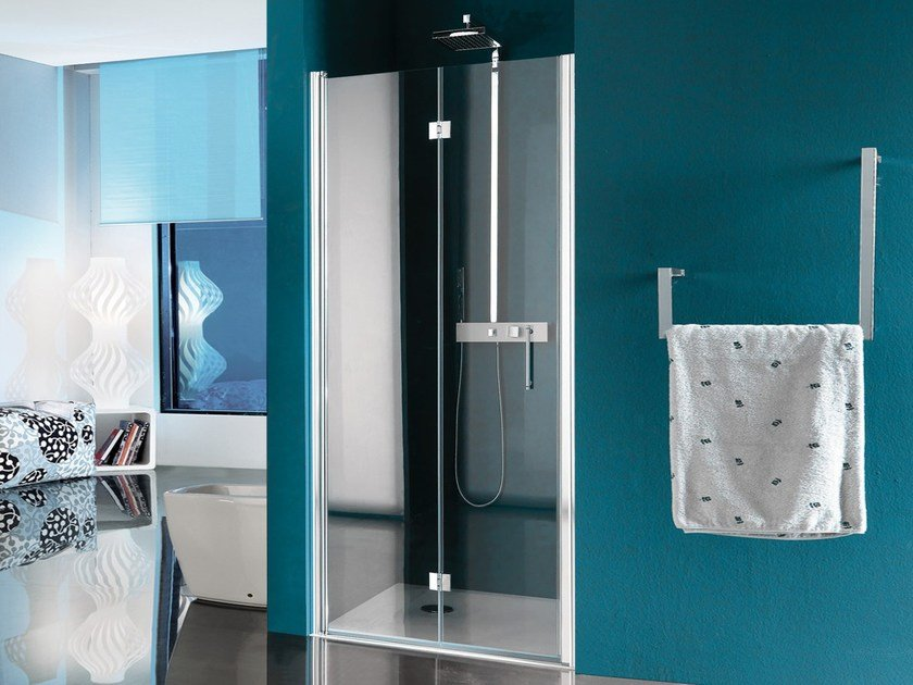 Niche shower cabin with tray with folding door ALTER | Niche shower cabin by Samo