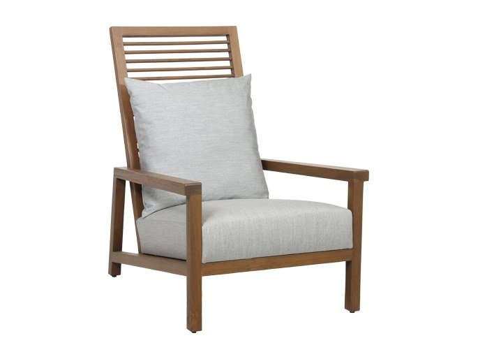 Solid wood armchair with armrests ALTO | Armchair by WARISAN
