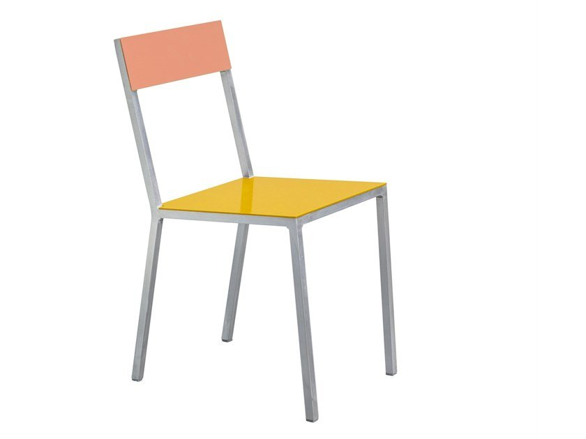 Contemporary style open back aluminium garden chair ALU CHAIR by Valerie_Objects