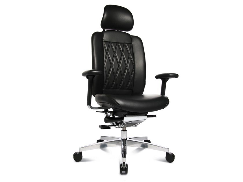 Swivel executive chair with 5-spoke base ALU MEDIC LIMITED S by WAGNER