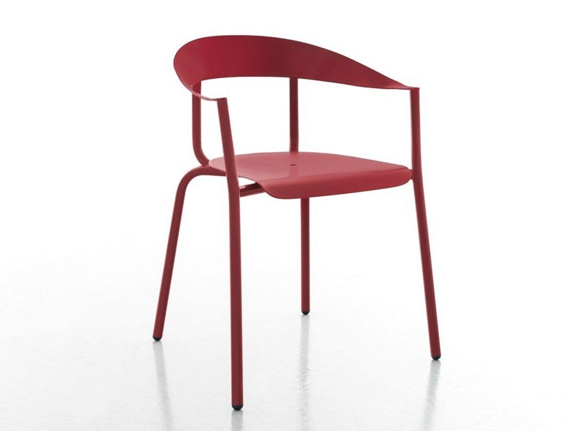 Aluminium chair with armrests ALU-MITO by conmoto